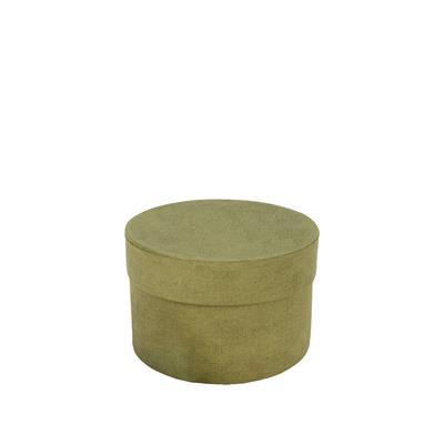 <h4>Carton à chapeau Fabric Ø14xH10cm vert</h4>