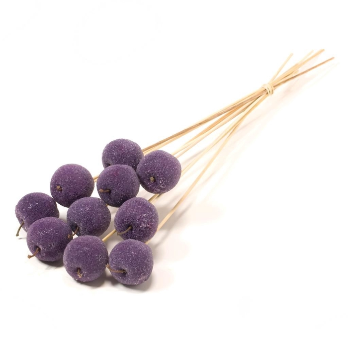 <h4>Apple sugar 5cm o/s 10pc purple</h4>