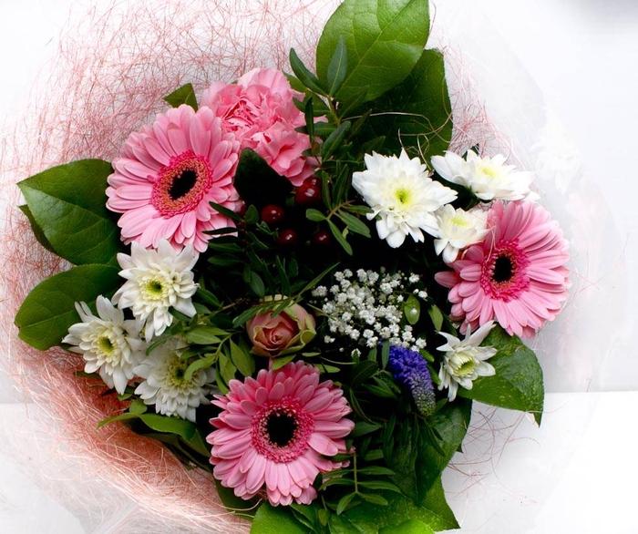 <h4>Boeket Sisal klein 1768 roze</h4>