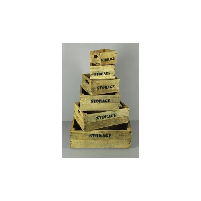 <h4>Box Storage Natural(set 6pcs)</h4>