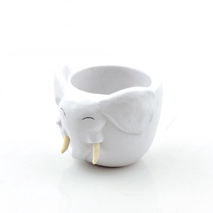 <h4>Keramiek Olifant pot d8*8cm</h4>