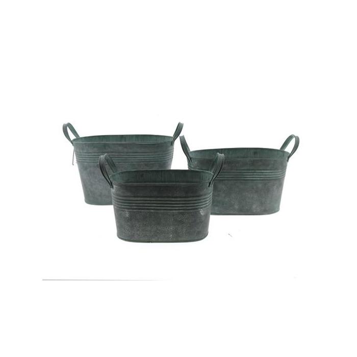 <h4>Planter Mtl S/3 28x16x16 Green</h4>