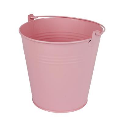 <h4>Bucket Sevilla zinc Ø15,5xH14,8cm -ES14 / 15 pink</h4>
