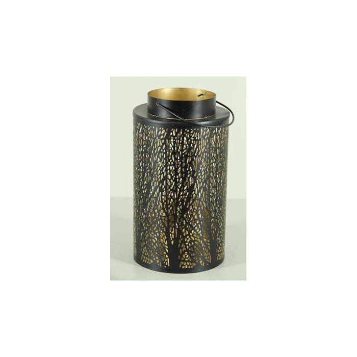 <h4>Lantern Mtl Cylinder Bl/gld 25</h4>