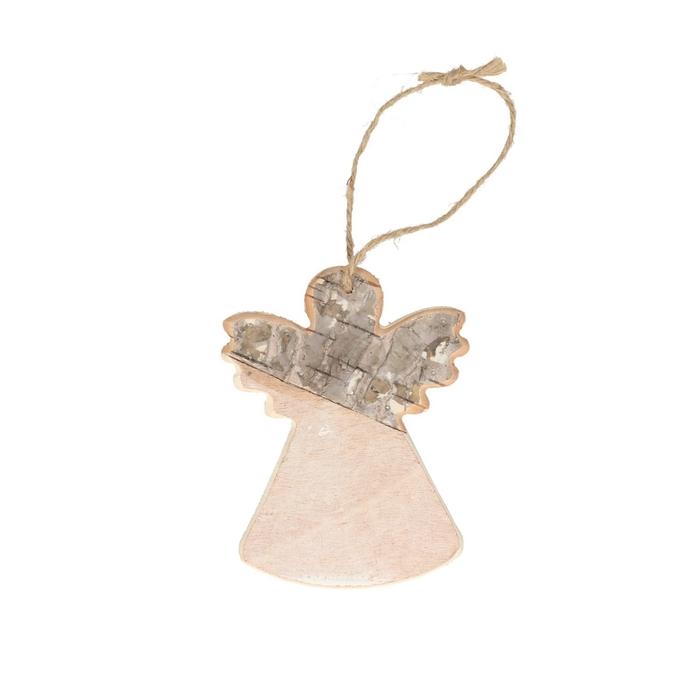 <h4>Kerst natural Hanger engel 9*12cm</h4>
