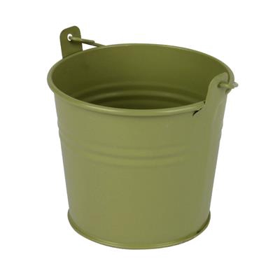 <h4>Bucket Sevilla zinc Ø9.6xH8cm - ES8.5 green matt</h4>