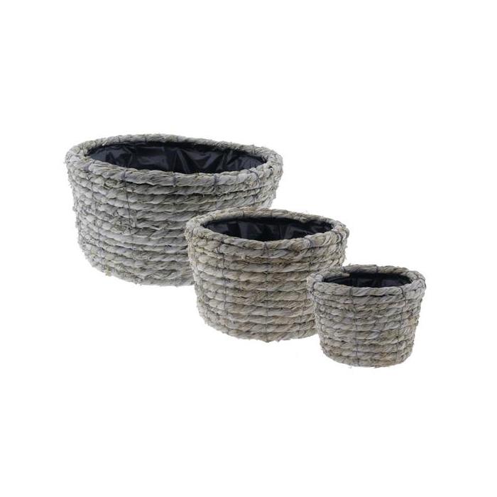 <h4>Basket Rope S/3 Ø35x18cm</h4>