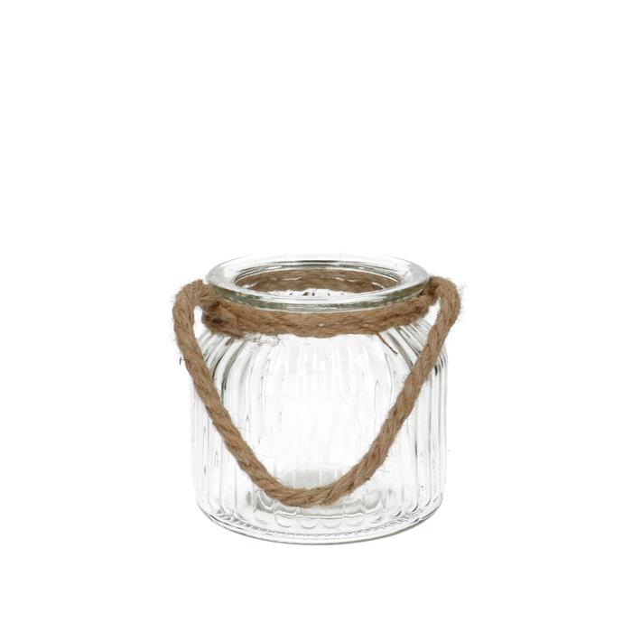 <h4>Glas Pot+touw d09.5/11*10.5cm</h4>