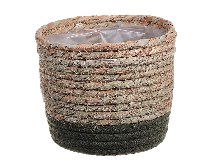 <h4>DF663370467 - Basket Casey d15.5xh13 natural/green</h4>