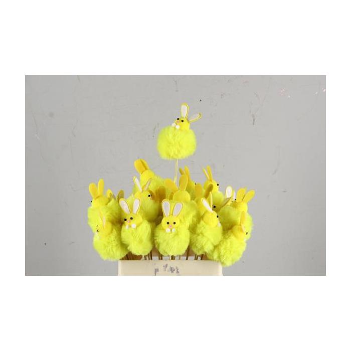<h4>Stick Rabbit Fabric 7cm Yellow</h4>