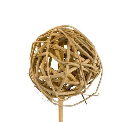 <h4>Bijsteker Bruce ball 5cm+50cm stok naturel</h4>
