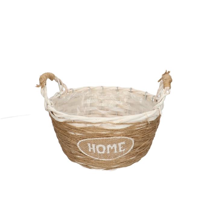 <h4>Baskets Home round+handle d22*17cm</h4>