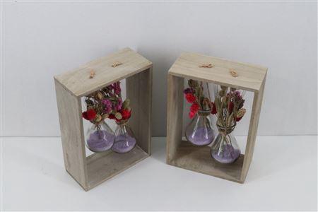 <h4>Arr. Driedflowers Glass Lyon</h4>