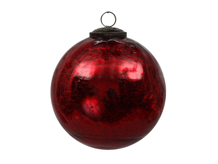 <h4>Christmas bauble Ball crackled 80mm</h4>