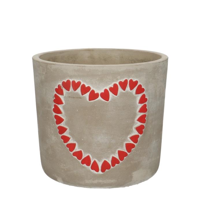 <h4>Liefde Pot Hearts d14*12.5cm</h4>