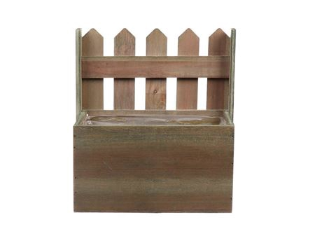 <h4>Planter Fence1 wood 18x11xh20 natural</h4>