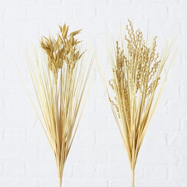 <h4>Zijde, Grassoorten, H 48 cm, 2 ass, Naturel</h4>