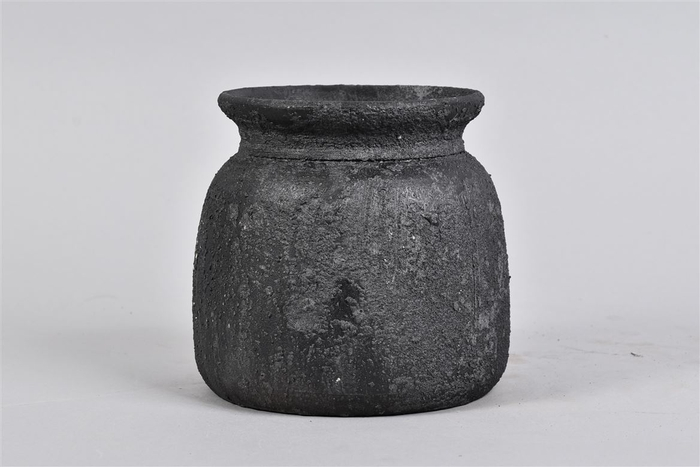 <h4>Bali Black Coal Kruik 17x16cm</h4>