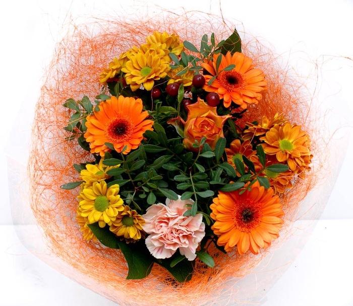 <h4>Boeket Sisal klein 1768 oranje</h4>