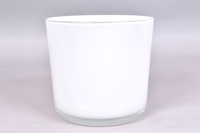 <h4>Glaspot Wit 20x19cm</h4>