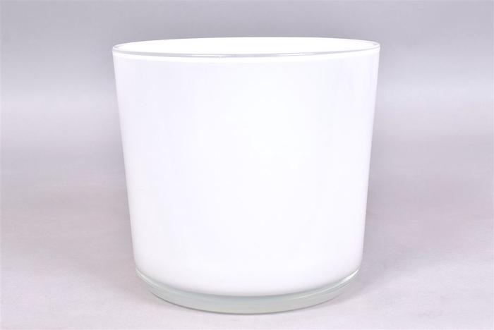 <h4>Glas Pot Wit 20x19cm</h4>