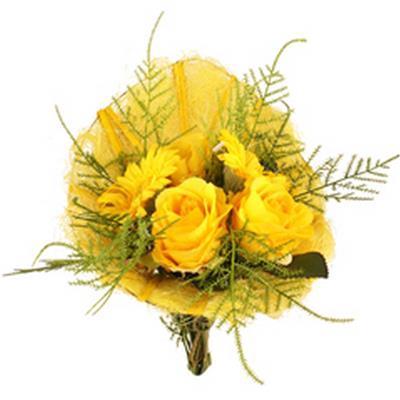 <h4>Support à bouquet egg shape sisal 23x17cm jaune</h4>
