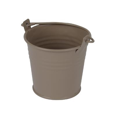 <h4>Bucket Sevilla zinc Ø6,3xH5,7cm - ES5,5 taupe mat</h4>