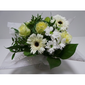 Bouquet Aqua Medium White