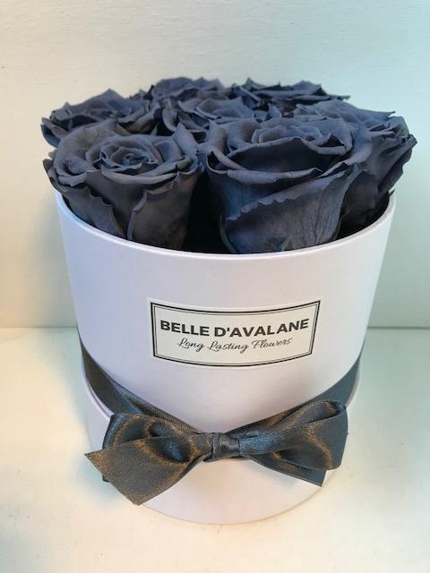 <h4>Flowerbox rd 15cm wit/grijs</h4>