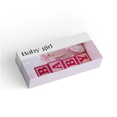 <h4>Bloemkaart stylish 19 baby girl-pakje 20 stuks</h4>