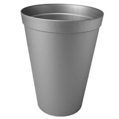 <h4>Plastic vaas basic hoog ø18x23cm zinkkleur 3,5ltr</h4>