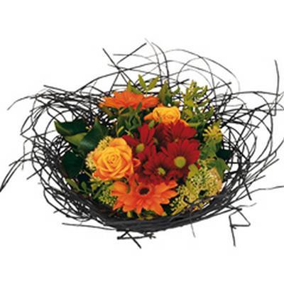 <h4>Bouquet holder woody Ø25cm black</h4>