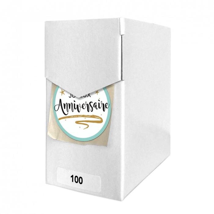 <h4>Labels Sticker 40mm x100 Anniversaire</h4>