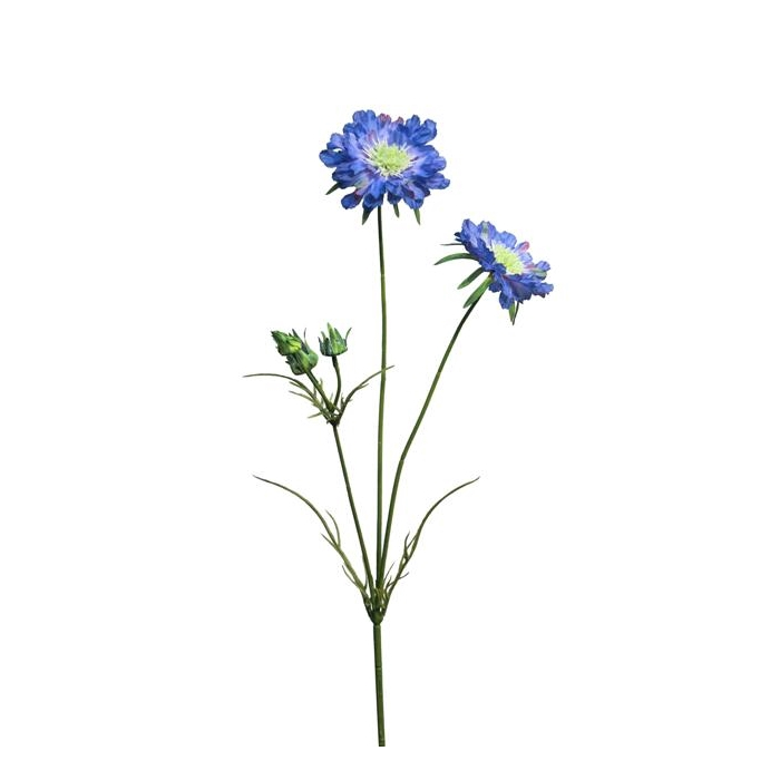 <h4>SILK FLOWERS - SCABIOSA LIZA DK BLUE 82CM</h4>