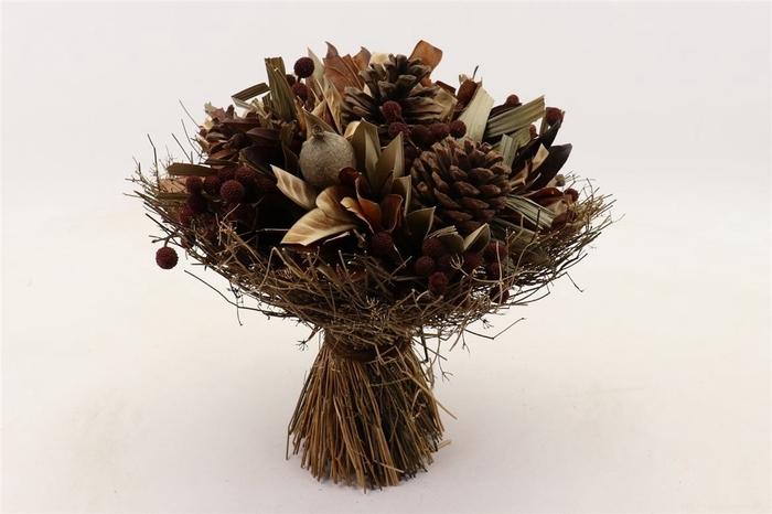 <h4>Droogbloem Droogboeket Pine Cone 30*27cm</h4>