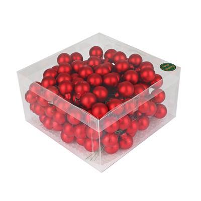 <h4>Boules de nöel en fil 3x25mm mates rouge 144 pcs.</h4>