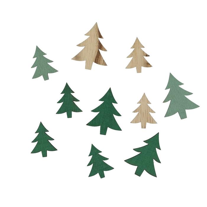 <h4>Kerst Kerstboom 3-4cm hout x24 ass.</h4>