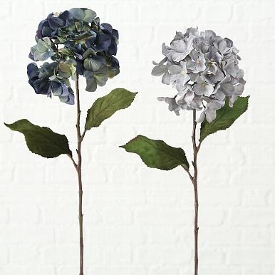 <h4>Zijde, Hydrangea, H 74 cm, 2 ass, Blue, Light blue</h4>