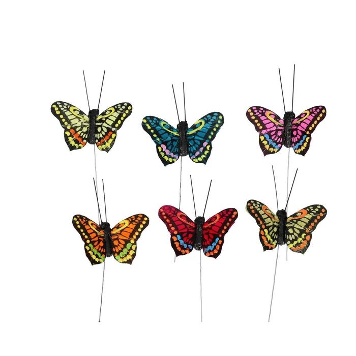 <h4>Voorjaar Vlinder/draad  5cm ass.</h4>
