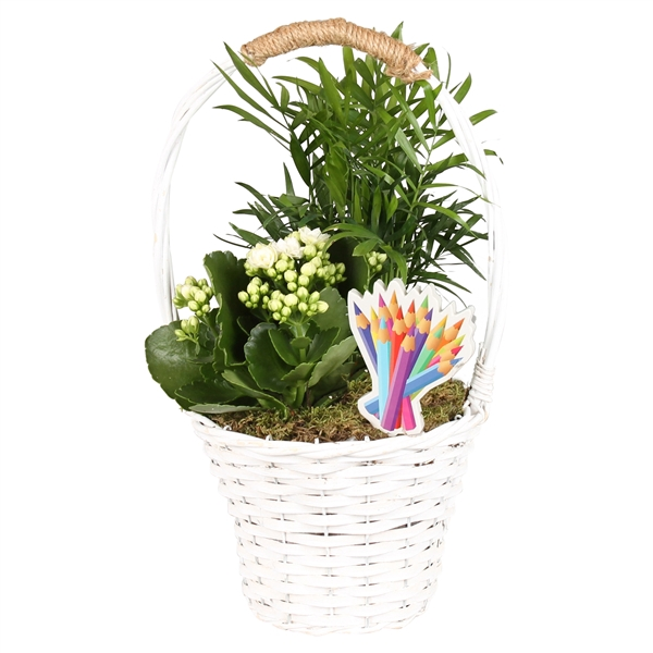 <h4>Indoor Core Line: Willow basket with handle ø18cm with 2PP</h4>
