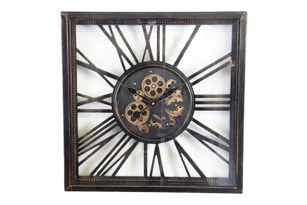 <h4>Clock Gear Open 53x53cm A.blck</h4>