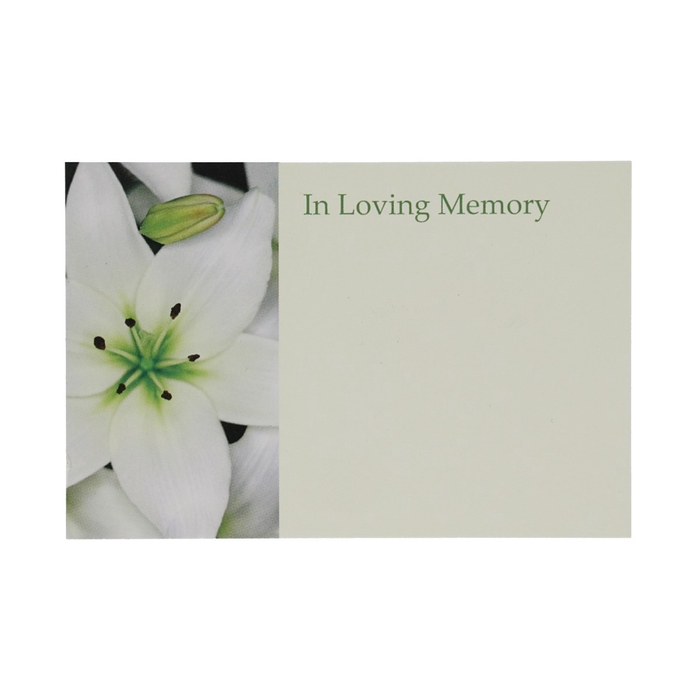 <h4>Labels Kaart 9*6cm x50 Memory Lily</h4>