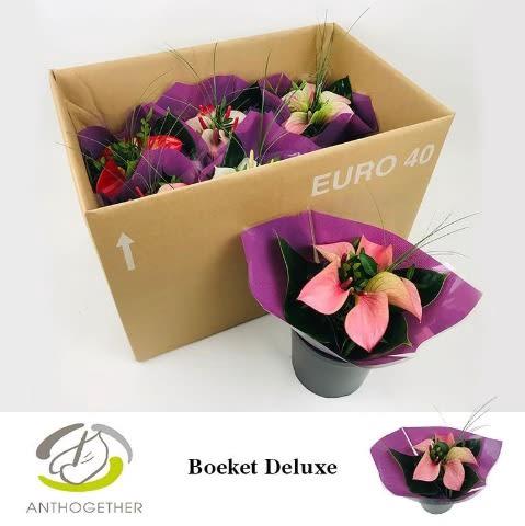 <h4>Deluxe Boeket 5 bloem Paarse Hoes 6.</h4>