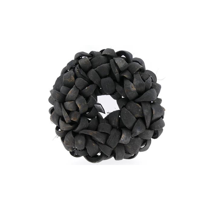 <h4>Wreath In 38cm Black 46722</h4>