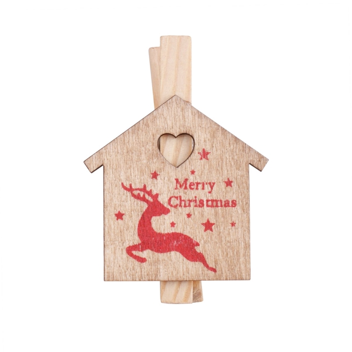 <h4>Christmas Clip home sweet home 5cm</h4>