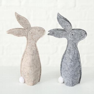 <h4>Egg cosy Frian, 2 ass., Felt, Rabbit, Grey felt (100% Polyester) grey</h4>