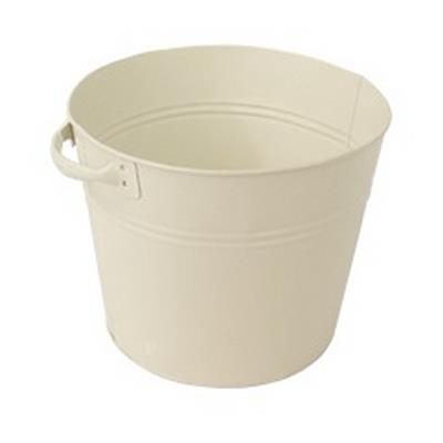 <h4>Bucket Bologna zinc Ø30xH27cm cream</h4>