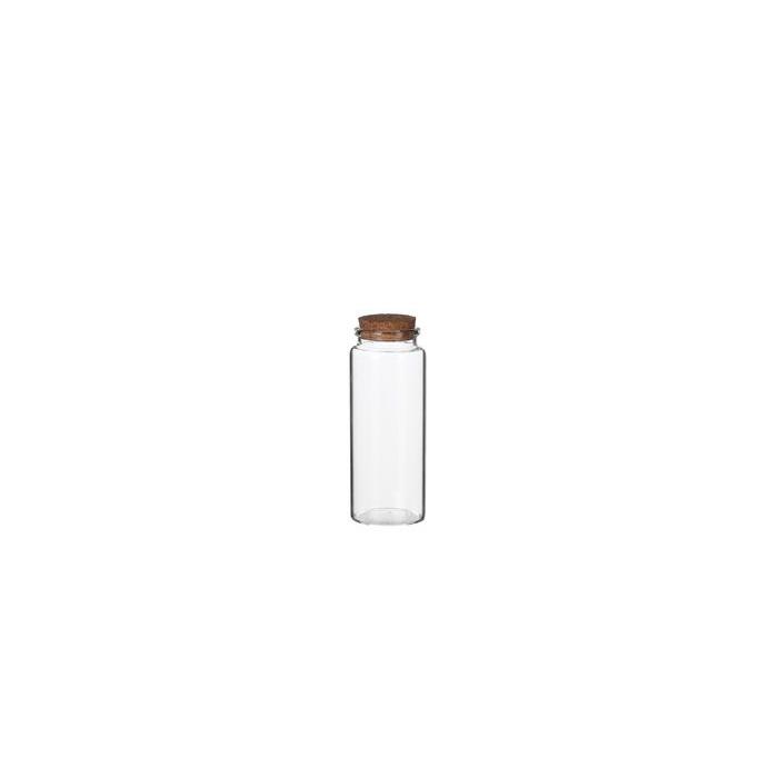 <h4>GLASS WITH CORK STORAGE CYLINDER H12,5 D4,5</h4>