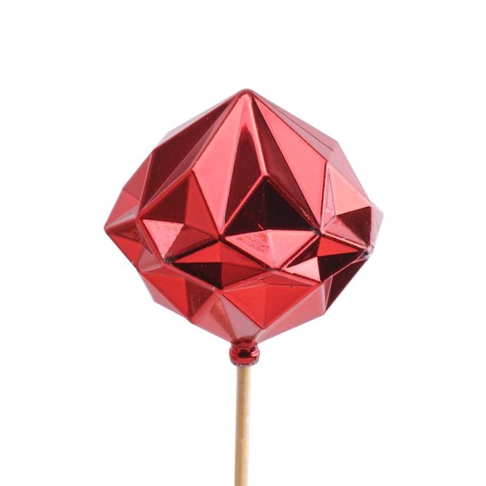 <h4>Christmas sticks 50cm Christ.bauble diamond 8cm</h4>