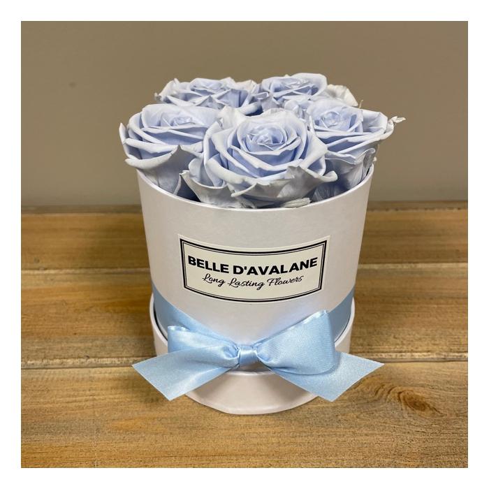 <h4>Box rd 12cm wit-lavendel</h4>